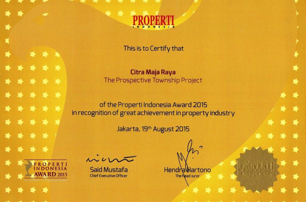 "Citra Maja Raya Raih Penghargaan ""The Prospective Township Project"""