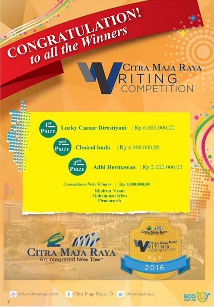 Pemenang Citra Maja Raya Writing Competition 2016