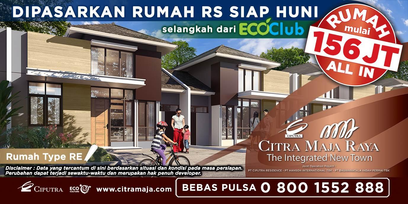 Dipasarkan Rumah Sederhana Dekat Stasiun Tangerang di Citra Maja  Raya -
